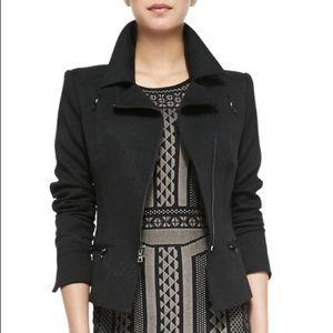 BCBGMAXAZRIA Boe Black Moto Jacket - XS
